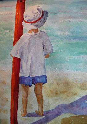 Boy With Noodle Poster by Barbara Connolly