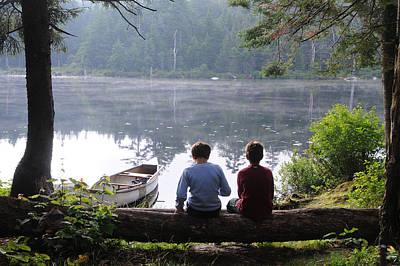 Boys At Beebe Pond Poster