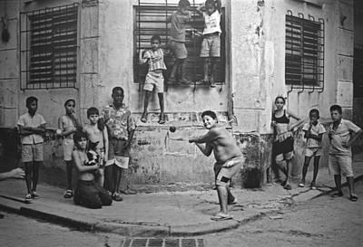 Boys Playing Stickball Havana Cuba 1999 Poster