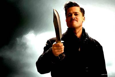Brad Pitt @ Inglourious Basterds By Tarantino Poster by Gabriel T Toro