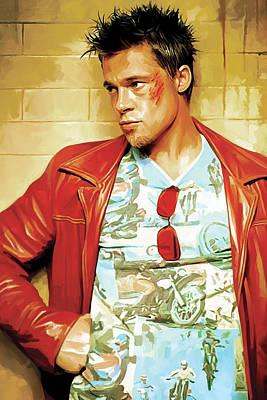 Brad Pitt Artwork Poster by Sheraz A