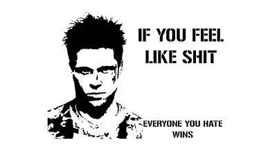 Brad Pitt In Fight Club Poster