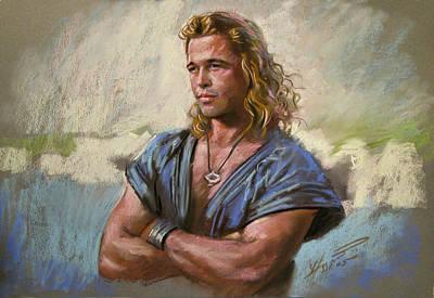 Brad Pitt Troy Poster by Viola El