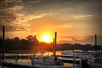 Bradley Creek Sunday Sunrise #3 Poster by Phil Mancuso