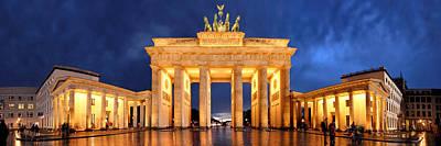 Brandenburg Gate Berlin Panorama Poster