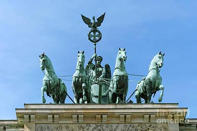 Brandenburg Gate Quadriga Berlin Poster by Design Windmill