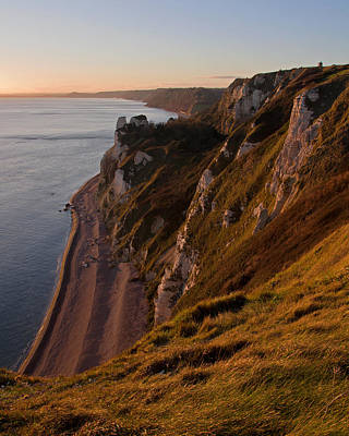 Branscombe Cliffs In Devon Poster