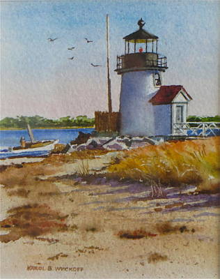 Brant Point Light Nantucket Poster by Karol Wyckoff