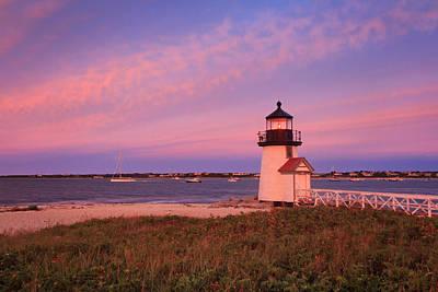 Brant Point Lighthouse Sunset Poster by Katherine Gendreau