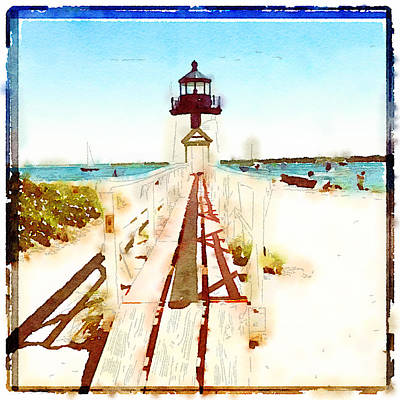 Brant Point Painted Poster by Natasha Marco