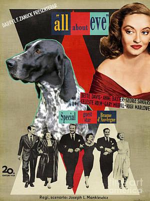 Braque D Auvergne - Auvergne Pointer Art Canvas Print - All About Eve Movie Poster Poster