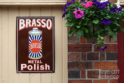 Vintage Brasso Polish Advert Poster by James Brunker