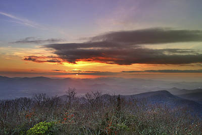 Brasstown Bald At Sunset Poster