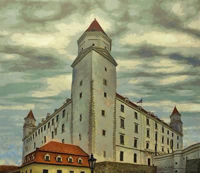 Bratislava Castle Poster by Jeff Kolker