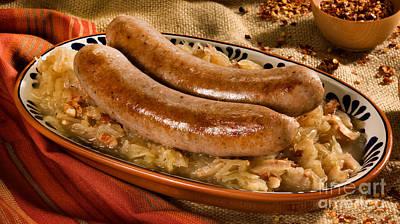 Bratwurst With Sauerkraut Poster