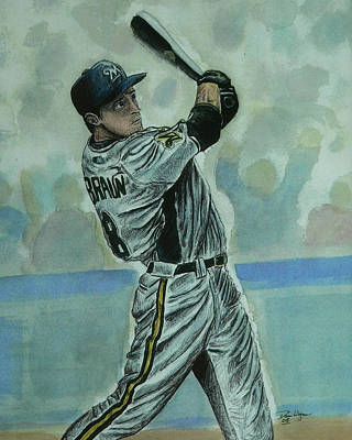 Poster featuring the painting Braun by Dan Wagner
