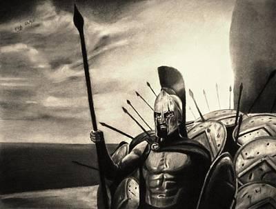 Brave Loyal Defender - Sepia Poster by Vishvesh Tadsare