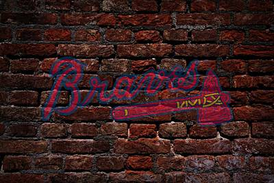 Braves Baseball Graffiti On Brick  Poster by Movie Poster Prints