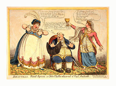 Bravuras Rival Syrens Or John-bulls Rehearsal Of Capt Poster by Litz Collection