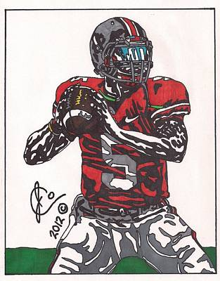 Braxton Miller 1 Poster by Jeremiah Colley