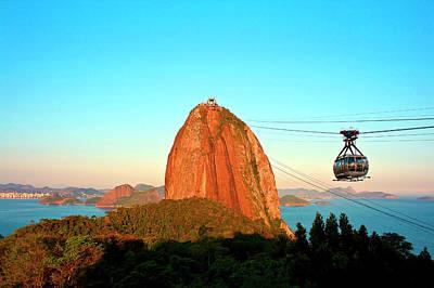 Brazil, Rio De Janeiro, Cable Car Poster by Miva Stock