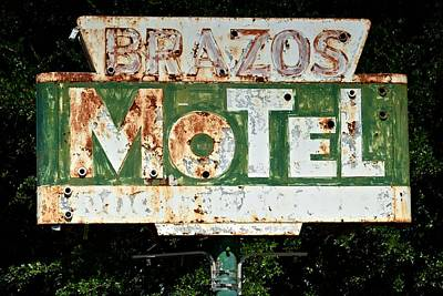 Brazos Motel Poster by Ricardo J Ruiz de Porras