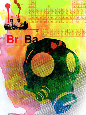 Brba Watercolor Poster by Naxart Studio