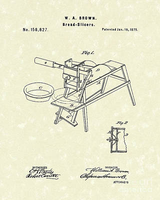 Bread Slicers 1875 Patent Art Poster