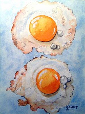 Breakfast Is Ready Poster by Carol Grimes