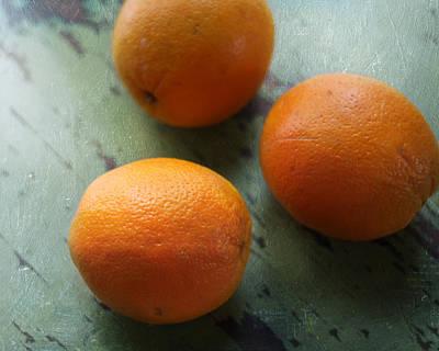 Breakfast Oranges II Poster by Amy Tyler