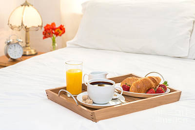 Breakfast Served In Bed Poster by Amanda Elwell