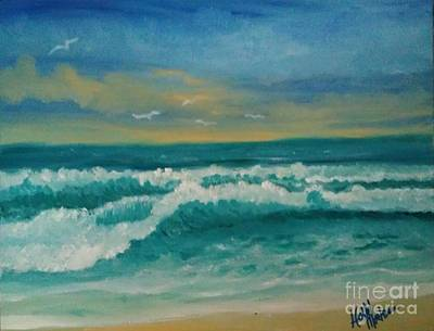 Poster featuring the painting Breaking Waves by Holly Martinson