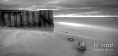 Breakwall In Lake Michigan Poster by Twenty Two North Photography