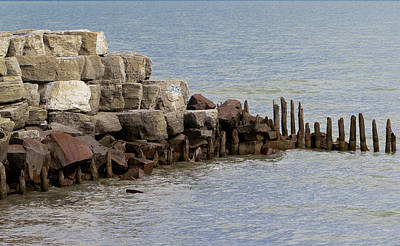 Poster featuring the photograph Breakwater by Ricky L Jones