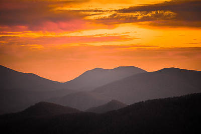 Breathtaking Blue Ridge Sunset 3 Poster