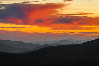Breathtaking Blue Ridge Sunset Poster
