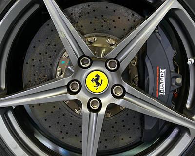 Brembo Carbon Ceramic Brake On A Ferrari F12 Berlinetta Poster