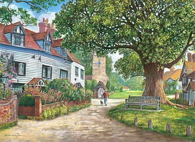 Brenchley Village Poster by Steve Crisp