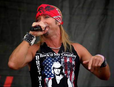 Bret Michaels In Philly Poster by Alice Gipson
