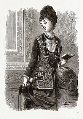 Breton Veste, 19th Century Fashion Poster
