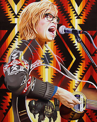 Poster featuring the painting Brett Dennen by Joshua Morton