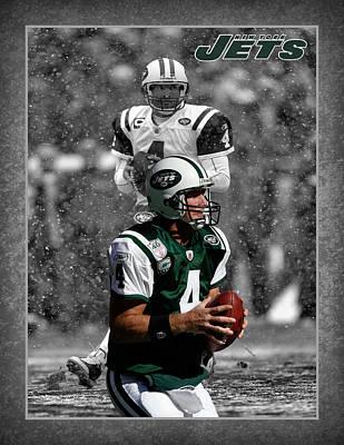 Brett Favre Jets Poster by Joe Hamilton