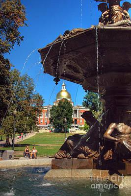 Brewer Fountain-boston Common Poster