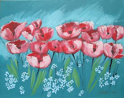 Brezzy Poppies Poster