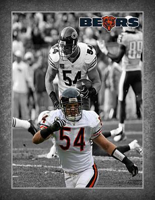 Brian Urlacher Bears Poster