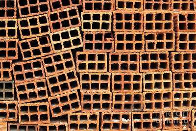 Brick Abstract Poster by Vivian Christopher