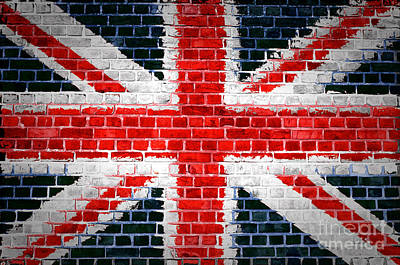 Brick Wall Britain Poster