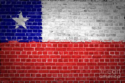 Brick Wall Chile Poster