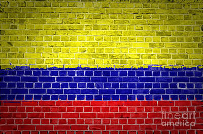 Brick Wall Colombia Poster