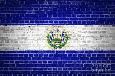Brick Wall El Salvador Poster
